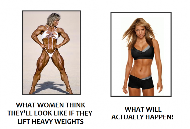 Women Lifting Heavy Weights